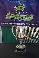 29 June 2014:  The 1912 Boston Red Sox Championship Trophy is on display prior to a game between the Vermont Lake Monsters and the Lowell Spinners at Centennial Field in Burlington, Vermont. The Lake Monsters fell to the Spinners 7-5 in NY Penn League action. Mandatory Credit: Ed Wolfstein Photo *** RAW Image File Available ****