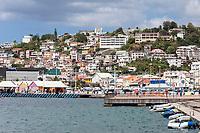 Fort-de-France, Martinique.  Seafront View.