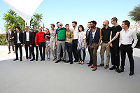 THE FILM CAST WITH ADELE HAENEL, ARNAUD VALOIS, DIRECTOR ROBIN CAMPILLO, NAHUEL PEREZ BISCAYART, ANTOINE REINARTZ AND ALOISE SAUVAGE - PHOTOCALL OF THE FILM '120 BATTEMENTS PAR MINUTE' AT THE 70TH FESTIVAL OF CANNES 2017
