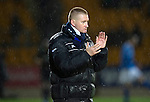 St Johnstone v Hibernian...26.11.11   SPL .Steve Lomas applauds his players.Picture by Graeme Hart..Copyright Perthshire Picture Agency.Tel: 01738 623350  Mobile: 07990 594431