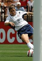 Mia Hamm.US Women's National Team vs Brazil at Legion Field in Birmingham, Alabama.
