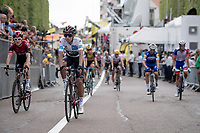 Egan Bernal Gomez (COL/Ineos) & Geraint Thomas (GBR/Ineos) side by side at the post finish roll-out<br /> <br /> Stage 7: Belfort to Chalon-sur-Saône (230km)<br /> 106th Tour de France 2019 (2.UWT)<br /> <br /> ©kramon