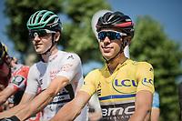 Richie Porte (AUS/BMC) at the start<br /> <br /> stage 7: Aoste > Alpe d'Huez (168km)<br /> 69th Critérium du Dauphiné 2017