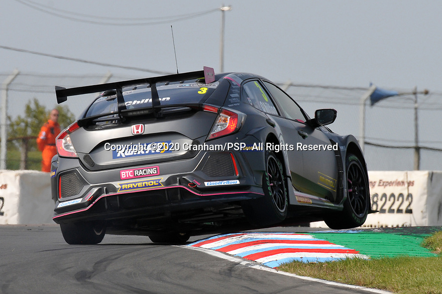 Round 5 of the 2020 British Touring Car Championship. #3 Tom Chilton. BTC Racing. Honda Civic Type R