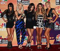 LOS ANGELES, CA, USA - MAY 01: Natasha Slayton, Lauren Bennett, Emmalyn Estrada, Paula Van Oppen, G.R.L., GRL in the press room at the iHeartRadio Music Awards 2014 held at The Shrine Auditorium on May 1, 2014 in Los Angeles, California, United States. (Photo by Celebrity Monitor)