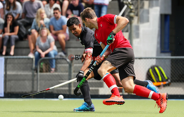 Arun Panchia. International Hockey, Blacksticks men v Canada. Lloyd Elsmore Park, Auckland, New Zealand. Sunday 21 October 2018. Photo: Simon Watts/Hockey NZ