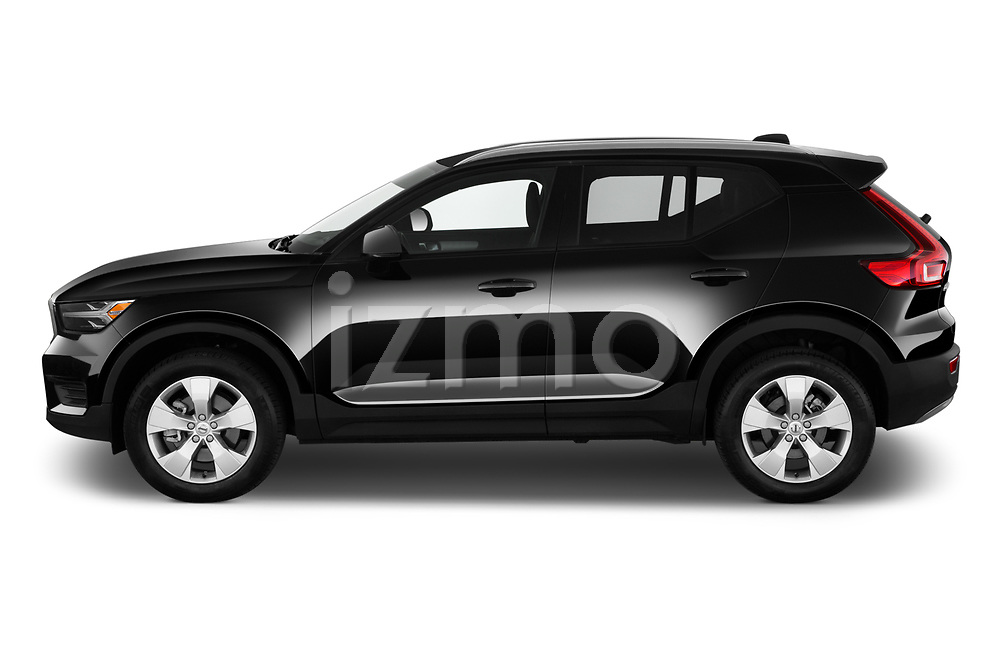 Car Driver side profile view of a 2020 Volvo XC40 Momentum 5 Door SUV Side View