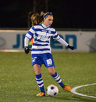 20140221 - OOSTAKKER , BELGIUM : Gent Jassina Blom pictured during the soccer match between the women teams of AA Gent Ladies  and RAFC Antwerp Ladies , on the 19th matchday of the BeNeleague competition Friday 21 February 2014 in Oostakker. PHOTO DAVID CATRY
