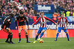 Antoine Griezmann of Atletico de Madrid  runs with the ball during the match Atletico de Madrid vs Valencia CF, a La Liga match at the Estadio Vicente Calderon on 05 March 2017 in Madrid, Spain. Photo by Diego Gonzalez Souto / Power Sport Images