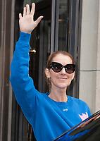 June 27th 2017 - PARIS, FRANCE : Singer CÈline Dion leaves the Royal Monceau Hotel on Avenue Hoche