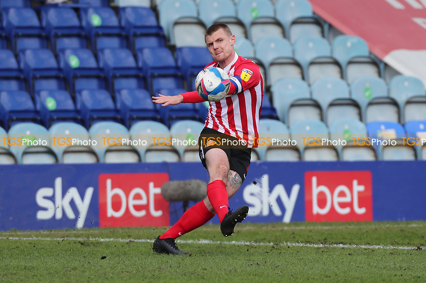 Sunderland's Max Power during Peterborough United vs Sunderland AFC, Sky Bet EFL League 1 Football at London Road on 5th April 2021