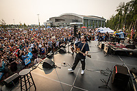Grammy-winning Alaskan rock band Portugal. The Man perform at a rally to override the governor's vetoes at the Alaska Airlines Center.