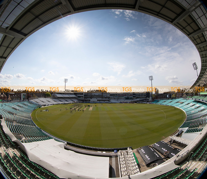 A general view of the Kia Oval before start of play during Surrey CCC vs Hampshire CCC, LV Insurance County Championship Group 2 Cricket at the Kia Oval on 30th April 2021