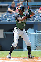 Augusta Green Jackets center fielder Chris Lofton #5 swings at a pitch during a game against the Asheville Tourists at McCormick Field on July 10, 2011 in Asheville, North Carolina.  Augusta won the game 10-2.   (Tony Farlow/Four Seam Images)