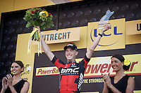Rohan Dennis (AUS/BMC) wins stage 1 and becomes the first yellow jersey of the 2015 Tour de France<br /> <br /> stage 1 prologue: Utrecht (13.8km)