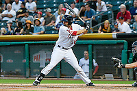 Anthony Bemboom (36) of the Salt Lake Bees at bat against the Albuquerque Isotopes in Pacific Coast League action at Smith's Ballpark on August 29, 2016 in Salt Lake City, Utah. The Isotopes defeated the Bees 9-4.  (Stephen Smith/Four Seam Images)