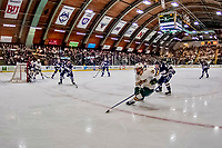 9 February 2019: University of Vermont Catamount Forward Ace Cowans, a Sophomore from Beverly, MA, in second period action against the University of New Hampshire Wildcats at Gutterson Fieldhouse in Burlington, Vermont. The Catamounts defeated the Wildcats 4-1 to split their 2-game Hockey East weekend series. Mandatory Credit: Ed Wolfstein Photo *** RAW (NEF) Image File Available ***