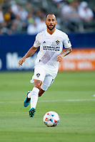 CARSON, CA - JUNE 19: Víctor Vázquez #7 of the Los Angeles Galaxy moves to the ball during a game between Seattle Sounders FC and Los Angeles Galaxy at Dignity Health Sports Park on June 19, 2021 in Carson, California.