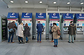 Ticket machines at London Bridge railway station