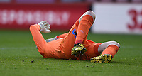 13th March 2021; Vitality Stadium, Bournemouth, Dorset, England; English Football League Championship Football, Bournemouth Athletic versus Barnsley; Asmir Begovic of Bournemouth lies injured after contact