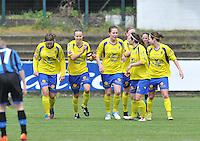 Club Brugge Dames - STVV Sint Truidense VV : vreugde bij St-Truiden na de 0-2.foto DAVID CATRY / Nikonpro.be