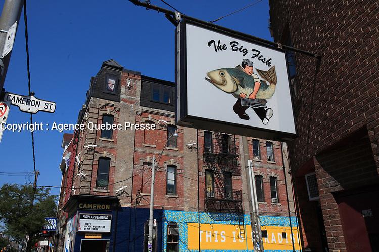 Toronto (ON) CANADA - July 2012 - Queen street west -The Big Fish restaurant.