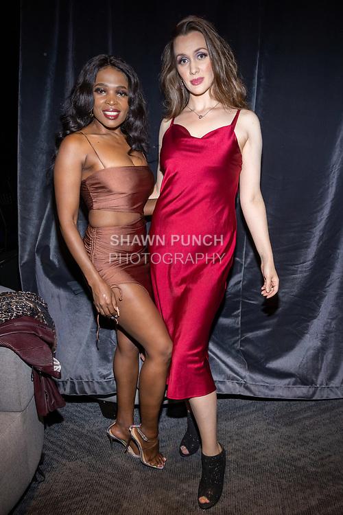 Cebo Tiara (left) and Tatiana Kurzhos attend the 10th Annual Winter Film Awards International Film Festival Gala on October 2, 2021 at 230 Fift Avenue in New York City.