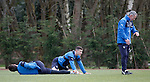 Rangers players get their breath back as Kenny Black checks their recovery time