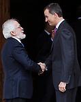 "Antonio Fraguas de Pablo ""Forjes"" and the Spanish king, Felipe VI before the Quevedos, an  iberoamerican award of grafic humor 2014. May 26,2016. (ALTERPHOTOS/Rodrigo Jimenez)"