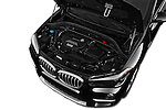 Car Stock 2017 BMW X1 xDrive28i 5 Door SUV Engine  high angle detail view