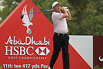 Damien McGrane Teeing off on the 11th on day 3 of the Abu Dhabi HSBC Golf Championship 2011, at the Abu Dhabi golf club, UAE. 22/1/11..Picture Fran Caffrey/www.golffile.ie.