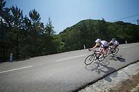 Lars Bak (DNK) descending the Col de Macuègne (2nd Cat)<br /> <br /> Tour de France 2013<br /> stage 16: Vaison-la-Romaine to Gap, 168km