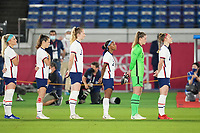 YOKOHAMA, JAPAN - JULY 30: USWNT starters before a game between Netherlands and USWNT at International Stadium Yokohama on July 30, 2021 in Yokohama, Japan.