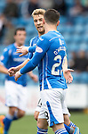 Kilmarnock v St Johnstone...19.09.15  SPFL Rugby Park, Kilmarnock<br /> David Wotherspoon celebrates his goal<br /> Picture by Graeme Hart.<br /> Copyright Perthshire Picture Agency<br /> Tel: 01738 623350  Mobile: 07990 594431