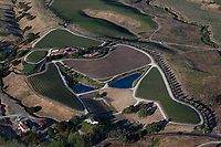aerial photograph of Crown Point Vineyards, Santa Ynez, Santa Barbara County, California