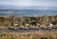race & GC leaders (including Primoz Roglic & Tadej Pogačar) up the Le Grand Colombier final stretch<br /> <br /> Stage 15 Lyon to Grand Colombier (175km)<br /> <br /> 107th Tour de France 2020 (2.UWT)<br /> (the 'postponed edition' held in september)<br /> <br /> ©kramon