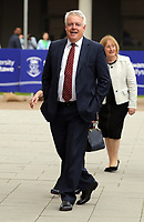 Pictured: First minister for Wales Carwyn Jones arrives at Swansea University Bay Campus. Saturday 14 October 2017<br /> Re: Hillary Clinton, the former US secretary of state and 2016 American presidential candidate will be presented with an honorary doctorate during a ceremony at Swansea University's Bay Campus in Wales, UK, to recognise her commitment to promoting the rights of families and children around the world.<br /> Mrs Clinton's great grandparents were from south Wales.