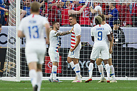 CLEVELAND, OHIO - JUNE 22: Aaron Long during a 2019 CONCACAF Gold Cup group D match between the United States and Trinidad & Tobago at FirstEnergy Stadium on June 22, 2019 in Cleveland, Ohio.