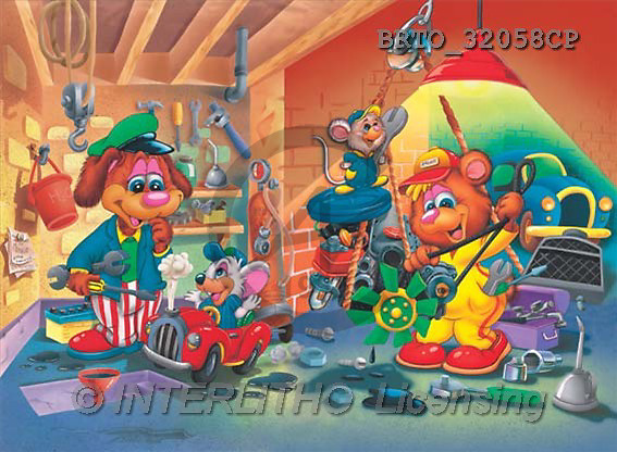 Alfredo, CUTE ANIMALS, puzzle, paintings(BRTO32058CP,#AC#) illustrations, pinturas, rompe cabeza