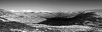 The Mamores from Stob Mhic Mhartuin above Glencoe, Highland