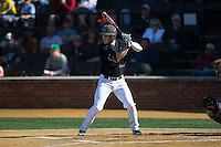 Jonathan Pryor (11) of the Wake Forest Demon Deacons at bat against the Florida State Seminoles at David F. Couch Ballpark on April 16, 2016 in Winston-Salem, North Carolina.  The Seminoles defeated the Demon Deacons 13-8.  (Brian Westerholt/Four Seam Images)