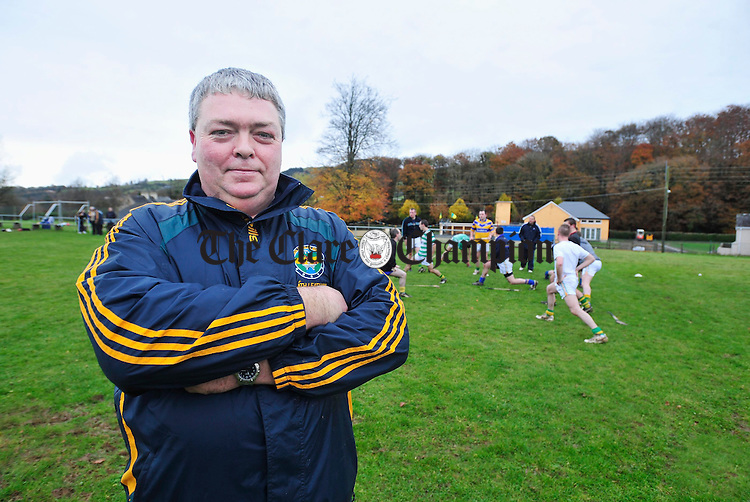 Broadford Manager Danny Chaplin. Photograph by Declan Monaghan