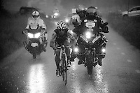 getting back to the peloton through a rain storm<br /> <br /> stage 3: Buchten - Buchten (NLD/210km)<br /> 30th Ster ZLM Toer 2016
