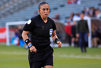 CARSON, CA - FEBRUARY 07: Melissa Borjas referee during a game between Canada and Costa Rica at Dignity Health Sports Park on February 07, 2020 in Carson, California.
