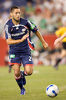 Clint Dempsey runs for the ball. The New England Revolution tie to Celtic FC, 1-1, July 19 at Gillette Stadium.