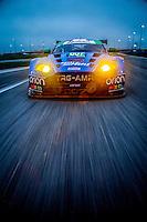 Aston Martin on-track photo shoot, Roar before the 24, testing, Daytona International Speedway, January 2016.  (Photo by Brian Cleary/ www.bcpix.com )