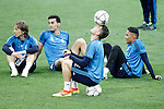Real Madrid's Luka Modric, Alvaro Arbeloa, Mateo Kovacic and Keylor Navas during Champions League 2015/2016 training session. May 27,2016. (ALTERPHOTOS/Acero)