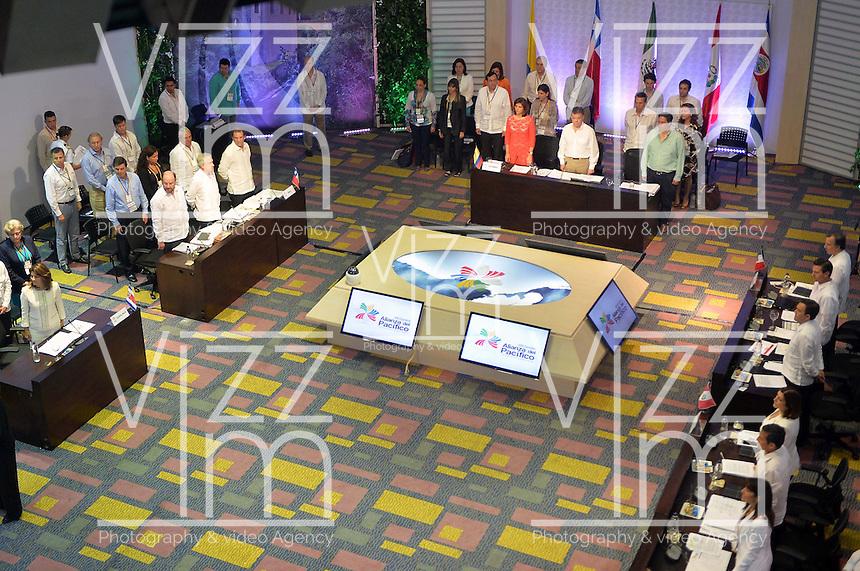CARTAGENA - COLOMBIA, 10-02-2014 Juan  Manuel Santos, presidente de Colombia instaló este lunes 10 de febrero de 2014 la VIII Cumbre de la Alianza del Pacífico, que se desarrolla en el Centro de Convenciones de Cartagena./ Juan Manuel Santos, president of Colombia installed today monday 10 of February of 2014 the VIII Summit Alianza del Pacifico at convention center in Cartagena, Colombia. Photo: VizzorImage /  Javier Casella - SIG / HANDOUT PICTURE; MANDATORY EDITORIAL USE ONLY/
