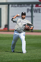 Birmingham Barons starting pitcher Frankie Montas (47) warms up in the outfield prior to the game against the Tennessee Smokies at Regions Field on May 3, 2015 in Birmingham, Alabama.  The Smokies defeated the Barons 3-0.  (Brian Westerholt/Four Seam Images)