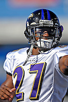 21 October 2007: Baltimore Ravens cornerback Ronnie Prude warms up prior to a game against the Buffalo Bills at Ralph Wilson Stadium in Orchard Park, NY. The Bills defeated the Ravens 19-14 in front of 70,727 fans marking their second win of the 2007 season...Mandatory Photo Credit: Ed Wolfstein Photo